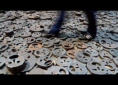 Fallen leaves (pedro vidigal) Tags: berlin germany menashe kadishman art instalation holocaust victims jews juden judeus judos shalechet memorial deutschland jdischesmuseum museojudo jewishmuseum sadness scream faces people worldwar2 wwii ww2 fallenleaves pedrovidigal gimp ufraw linux