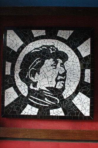 Black & White Mosaic Mao