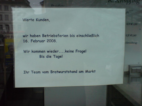 No Knickwurst :-(