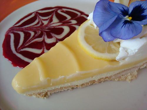 Lemon curd tart, Papa Haydn, Portland OR