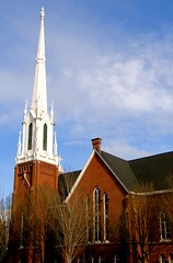 Feeling Inspired - the steeple of the Salem First United Methodist Church in Salem Oregon