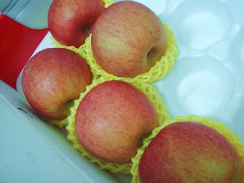 好大的蘋果..