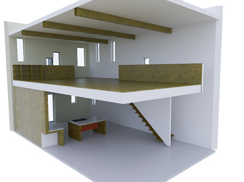 preferred-double level from party wall corner