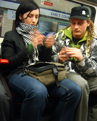 Playing Cards on the Tube
