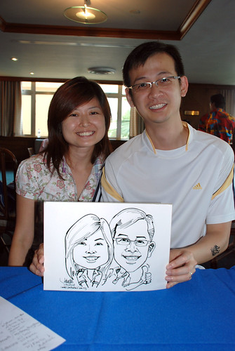 Caricature live sketching Temasek Fun Day 15
