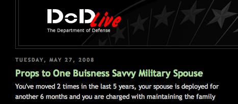 Schreibfehler im Blog des U.S. Department of Defense