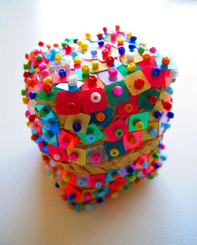 sequinned basket
