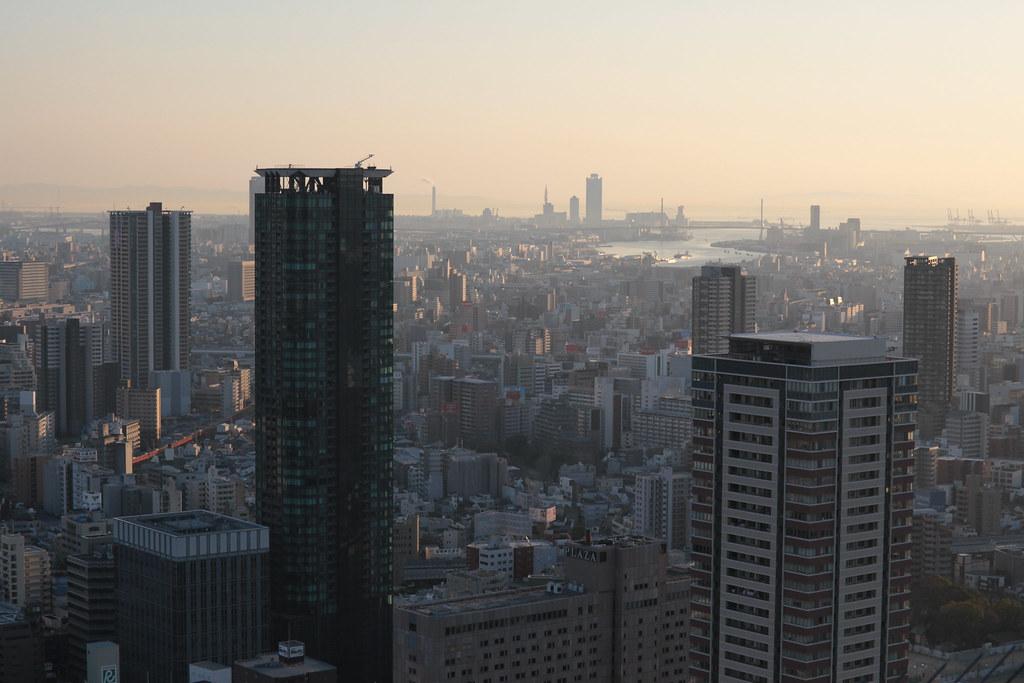Osaka at sunset