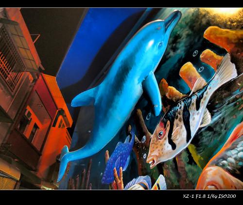 民宿海豚立體浮雕