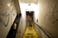 A look down the stairs (konstantin sergeyev) Tags: show party eastvillage punk lowereastside squat alphabetcity squatter loisaida csquat