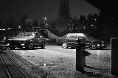 A VR6's night out in the rain. (nappent) Tags: vw volkswagen timeline jetta mods vr6 glx mkiii mk3 modifications fbnappent