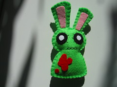 Zombie Bunny plushie magnet