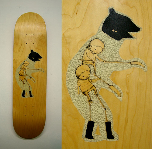 stalking bear skateboard