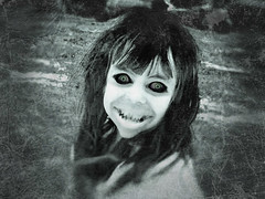 Childs Play (AzRedHeadedBrat) Tags: girl female interestingness scary child zombie evil freaky creepy explore psycho satan demon devil fangs spawn possessed frightening livingdead texturized zombified sharleneshappart psychogirls anarchisticsouls