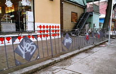 Yes love us me (Georgie_grrl) Tags: toronto love me graffiti us downtown yes pentaxk1000 queenstreetwest rikenon12828mm