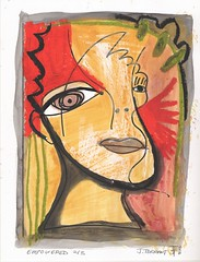 Empowered 2 of 3 (Jessica Torrant) Tags: art face modern altered gallery hand jessica contemporary fine funky online buy prints etsy limited collecting collectable cubist signed editions torrant livefunky