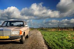 Holland is great (mcdronkz) Tags: blue sky holland green netherlands dutch grass mercedes benz 300d diesel nederland 1750 28 polarizer tamron gnd 200d 240d