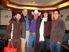 Daneau, Phil Peters from UCF, Cowboy Ted Hallisey, Harrell, and Hudson after dinner in Salt Lake City