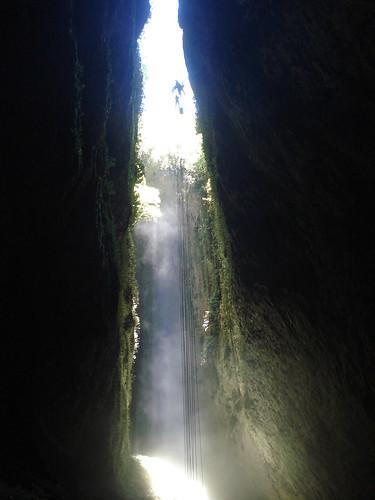 Waitomo abseil