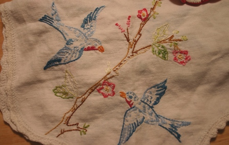vintage bird embroidery