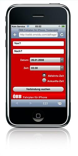 ÖBB Fahrplan für iPhone. Testprojekt