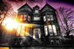 My House (BarneyF) Tags: sun house color building liverpool victorian lensflare hdr capitalofculture liverpool08 selectiveorton betterthangood proudshopper