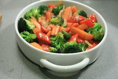 Légumes grillés au wok