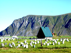 A Church and a Cemetery (little_frank) Tags: norway lofoten islands isole europe norvegia norge scandinavia mountains mounts peacks pinnacles nature natural pure impressive noruega norvge norvege norwegen fabulous irreal special fantasy fantastic silent place fable view panorama breathless breathtaking primordial peaceful lofotveggen clouds sky peaks dream skyline church cemetery quiet platinumphoto superbmasterpiece terrascania scenery graveyard cimitero tomb tombstone mount mountain hill green silence peace solitude loneliness religion christian christianity burial paradise heaven roof grass plain land wild wilderness norvegese paesaggio beautiful tranquility