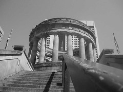 ANZAC War Memorial, Brisbane ([ Kane ]) Tags: blackandwhite cold art film memorial war australia brisbane scanned qld kane warmemorial anzac australianarmy gledhill anzacwarmemorial newzealandarmy kanegledhill vivitarv2000 humanhabits wwwhumanhabitscomau kanegledhillphotography