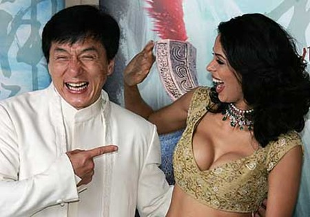 photo of Jackie Chan and Mallika Sherawat