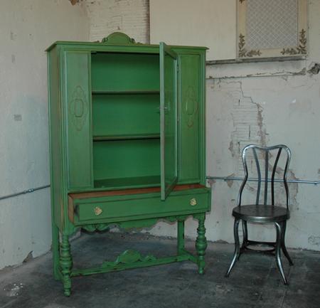 green china cabinet