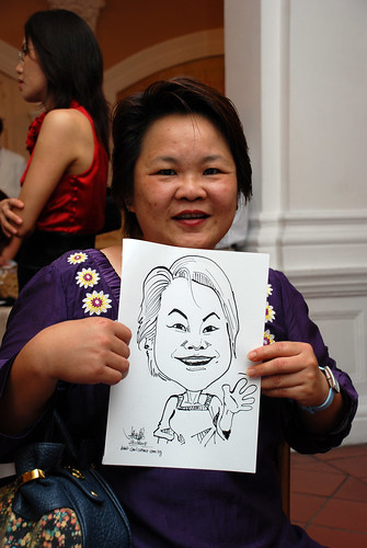 Caricature live sketching for wedding dinner 1