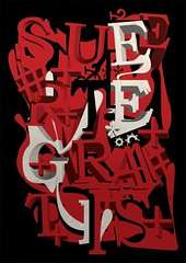 Suerte Gratis (laprisamata) Tags: madrid new red españa black poster typography design 3d spain graphic free spanish lucky gratis lettering typo diseño tipografia cartel affiche letras grafico suerte