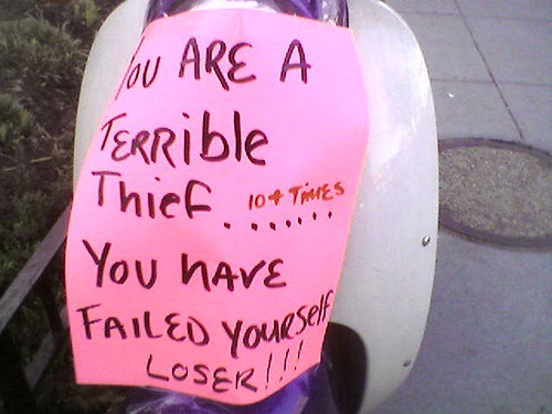 YOU ARE A TERRIBLE THIEF...YOU HAVE FAILED YOURSELF LOSER!!!