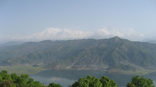 Himalaya as seen from World Peace Pagoda