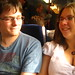 Simon and Nat on the early train