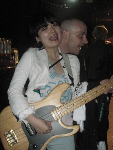 Mami has Faley's bass with LOTP staff!