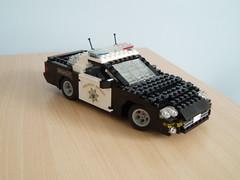 CHP Chevrolet Camaro (3) (Mad physicist) Tags: chevrolet lego camaro policecar chp lugnuts californiahighwaypatrol