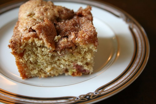 rhubarb coffeecake