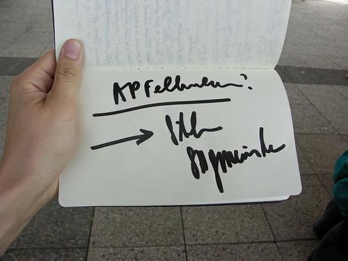 Mein Sagmeister Autogramm!