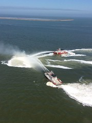 Coast Guard rescues 2 from burning boat (Coast Guard News) Tags: uscg cg coastguard us padethouston boatfire burning hsc rescue aerial fireboats houstonshipchannel texas unitedstates