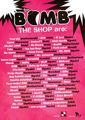 Bomb the Shop Flyer: Sticker Art Collab (shaire productions) Tags: show street streetart art spain sticker arts event 2009 stickercollab bombtheshop