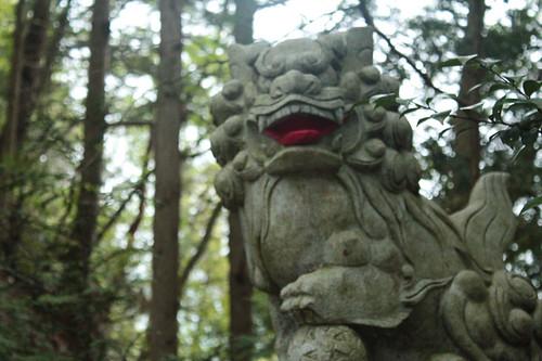 奥多摩愛宕神社狛犬