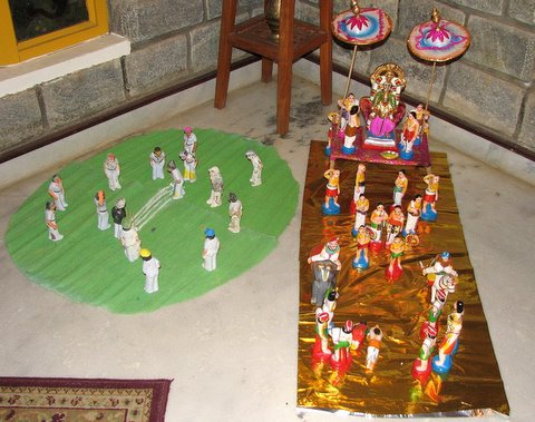 the cricket and the Garuda Sevai scenes