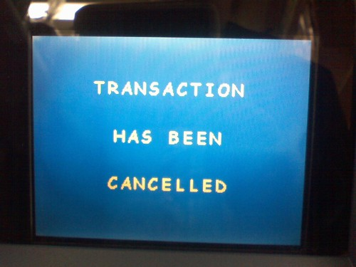 Transaction Has Been Canceled (;_;)