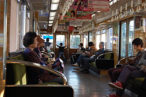 Dans un wagon Hankyu