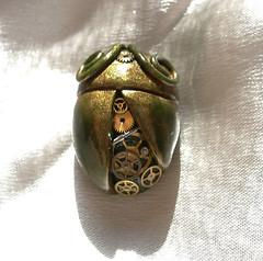 scarab2 (steampunx) Tags: green brooch jewelry etsy clockwork brass gears steampunk steampunkadelic