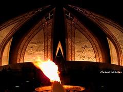 Monument Flame (Suh@il) Tags: pakistan light night dark fire nightshot flame darklight islamabad sonyh5 suhailakhtar nationalmonumentislamabad