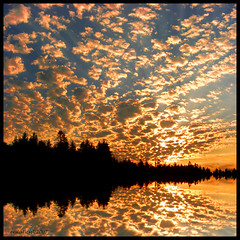 Reimag(in)ing a Hornby Island Sunset (ecstaticist - evanleeson.com) Tags: trees sunset sky canada reflection clouds photoshop island bravo bc flood hornby themoulinrouge platinumphoto infinestyle nitenitexxxx thegardenofzen wooooooooooowwwww ectopf 07top