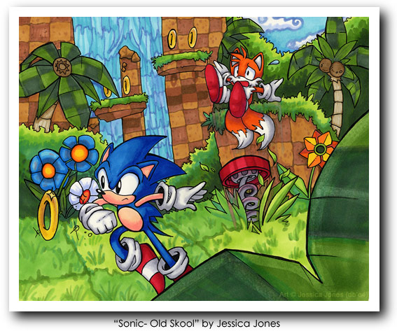 Sonic - Old Skool by Jessica Jones